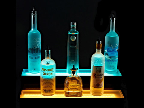 Add Color and Style to Your Bar with a LED Liquor Bottle Display