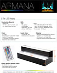2 Tier LED Display Spec Sheet