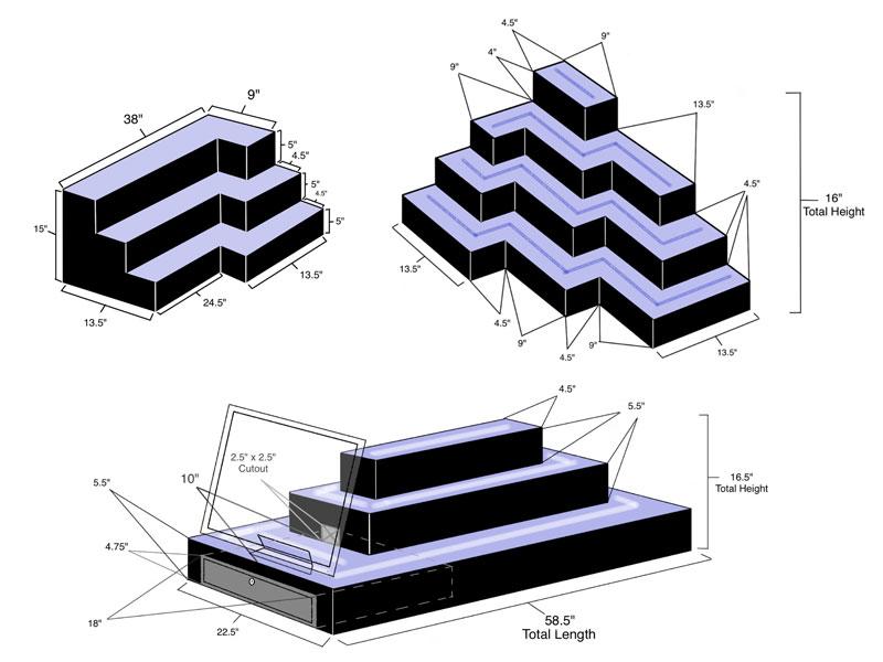 Custom LED Shelves & Displays