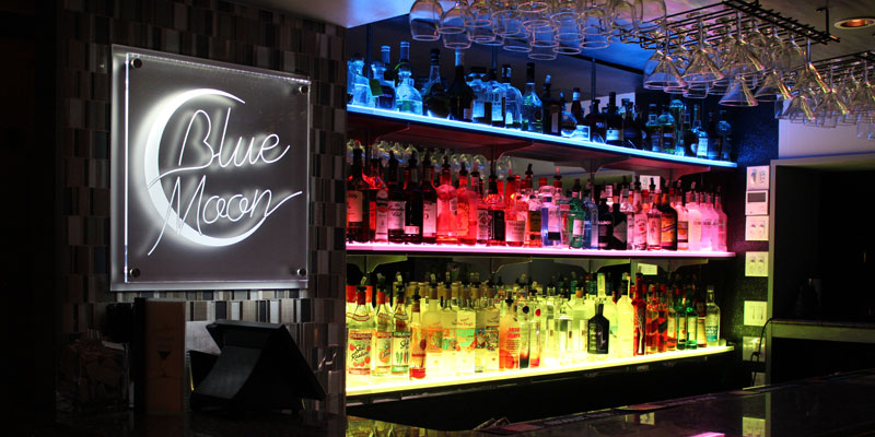 LED Lighted Bar Shelves